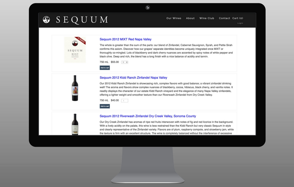 Sequum Checkout Step 1
