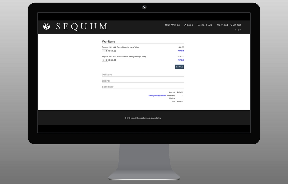 Sequum Checkout Step 2